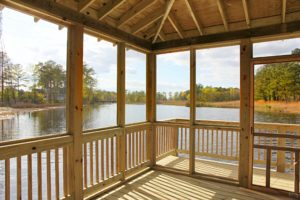 Breathtaking views of the Elizabeth River from inside the Gazebo!